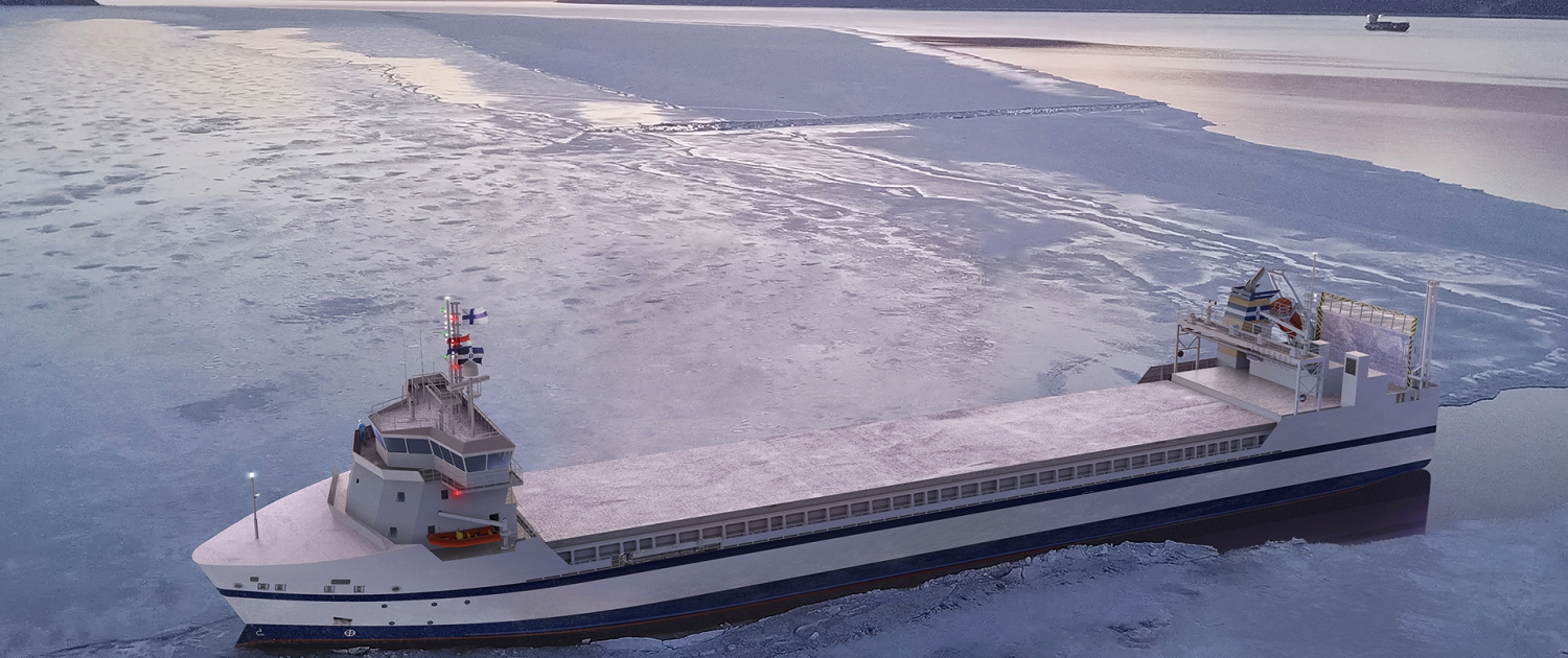 Bore RoLo on LNG in ice - artist impression