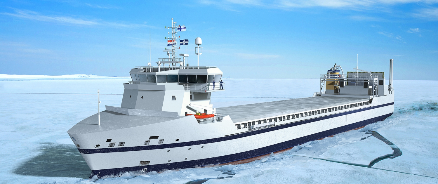 Bore RoLo on LNG in ice - sideview - artist impression