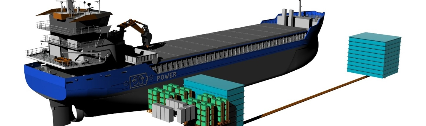Lay out of propulsion and electrical system, battery stacks and fluid tanks_copyright Conoship International